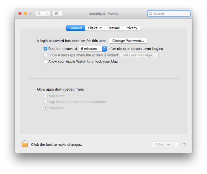 Allow Apps Downloaded From Anywhere Mac Os Sierra